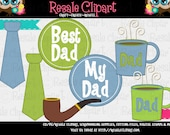 Father's Day 4 Clipart (Digital Download ZIP)