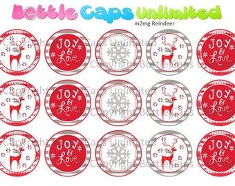 "15 M2MG Reindeer Download for 1"" Bottle Caps (4x6)"