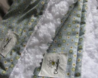 Light Blue Dot Burp Cloth Set (2)