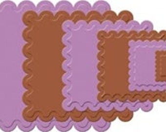 CLASSIC SCALLOPED SQUARES Small Nestabilities Die Cuts by Spellbinders