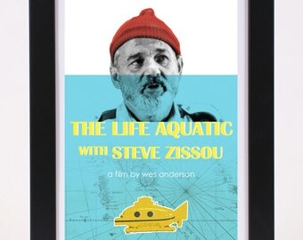 The Life Aquatic with Steve Zissou / Wes Anderson Movie Poster