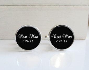 Best Man Cufflinks, Custom Wedding Cufflinks, Mens Wedding Accessory