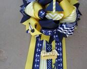 yellow nautical mum-baby shower mum-nautical baby shower