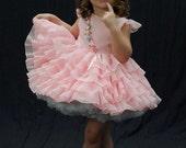 Shirley Temple replica pink ruffle dress