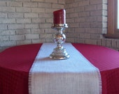 Burlap Table Runner 12 x 84 - More Sizes and Colors Available