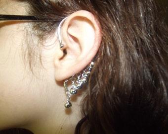 Gypsy Bells Ear Cuff - Silver