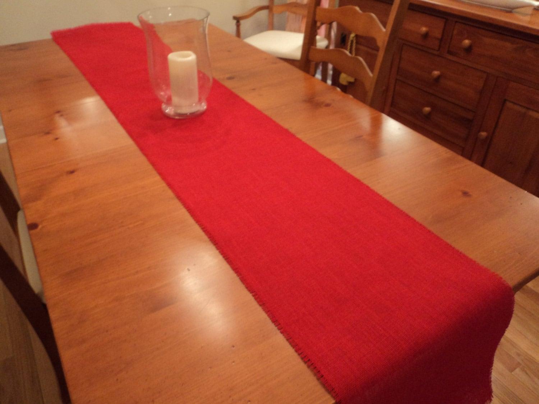 red burlap table runner. Black Bedroom Furniture Sets. Home Design Ideas