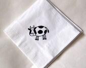 Cow or Pig Beverage Napkins / Farm Animal Birthday Party /  Set of 50