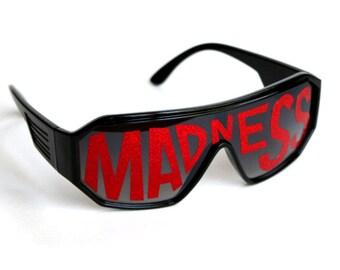Rasslor Red MADNESS Shield Sunglasses