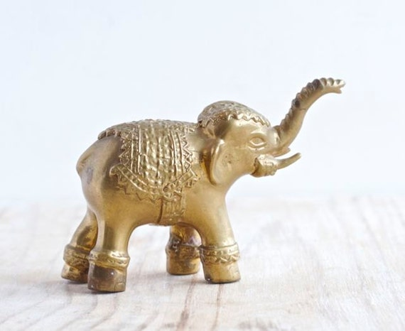 Vintage brass elephant home decor good luck health by for Good luck home decor