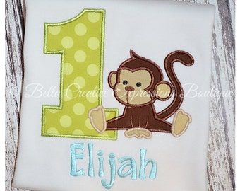 Monkey Birthday Bodysuit or Shirt