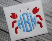 Mini Crab Made for Monogram Frame Embroidery Design Machine Embroidery INSTANT DOWNLOAD