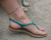 Silver Chain Anklet, Dog Choke Chain Anklet