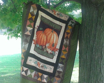 Pumpkin lap quilt. Perfect for Fall