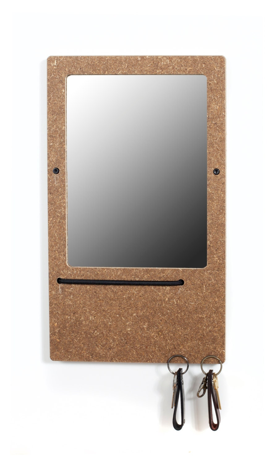 The elefuction mirror small in wheat board with key holder for Mirror key holder