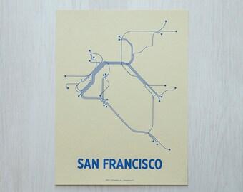 San Francisco Sm Screen Print - Cement/Blue