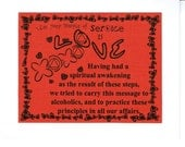Twelfth step principle of service is Love greeting card
