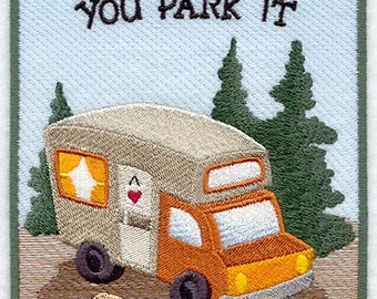 Home is Where You Park It Embroidered Flour Sack Hand/Dish Towel