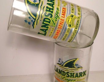 Landshark Lager Recycled Glasses - Set of 2