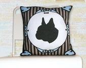Dog Silhouette Pillow - French Bulldog