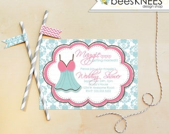 Lingerie Wedding Shower Invitation Bachelorette Party Customized Printable