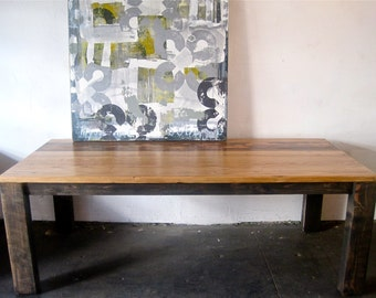 Beautiful Reclaimed Wood Dining Table.loft style/salvaged/Made in Los Angeles.