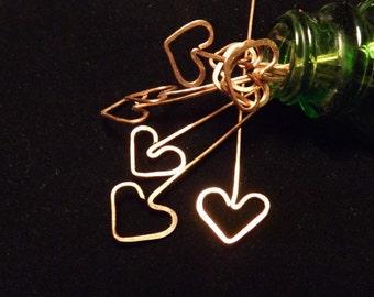 """Heart Shaped Headpins 2"""""""