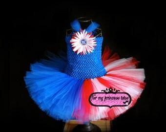 Flag Tutu Dress 4th Of July -newborn tutu, baby tutu, toddler tutu, infant tutu, pageant tutu, baby shower tutu, TUTU
