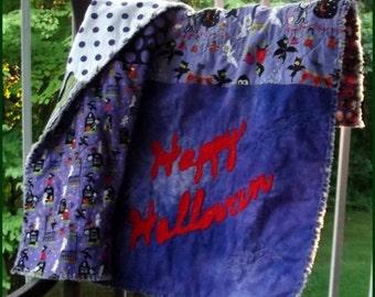 Happy Halloween Applique Rag Quilt