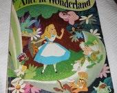 Walt Disney's Alice in Wonderland A Big Golden Book Thrity-First Printing 1977 Vintage Hardcover Book