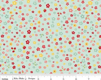 SALE - The Sweetest Thing - Sweetest Petals blue by Zoe Pearn from Riley Blake