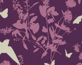 Bungalow - Lavender Swallow - Cotton Print Fabric by Joel Dewberry from Free Spirit
