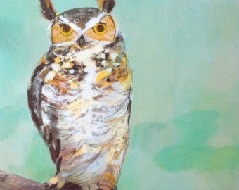 Mint Owl - PRINT of original