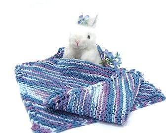 baby bib & washcloth set denim blue, gray blue multicolor blue, baby pullover bib set with wash or burp cloth baby gift