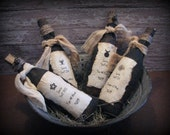 Witch Spell Bottle Ornies Halloween Primitive Decor