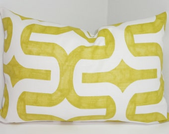 Decorative Pillow Lime Citrine Geometric Pillow Cover Throw Pillows Lumbar size 12x18