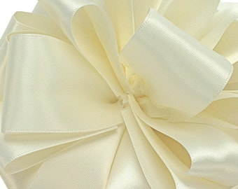 "Satin Ribbon, 1/4"" wide, Antique White Double Sided - TWENTY YARD ROLL -  Offray  ""Antique White Color 28""  No. 1 Double Face Satin  dfs"