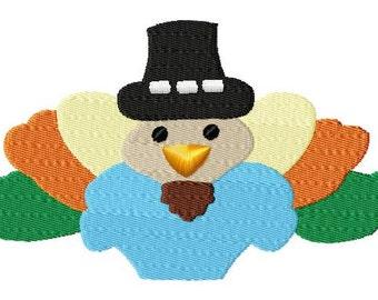 Turkey - Fill Stitch - Machine Embroidery - 9 Sizes