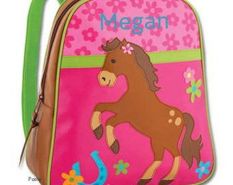 Personalized Girls Backpack Stephen Joseph GoGo Horse