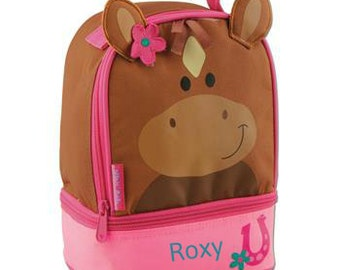Personalized Girls Lunch Box Bag Stephen Joseph Lunch Pals in Horse