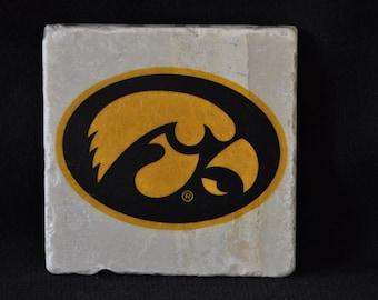 Iowa Hawkeye Goldhead Coasters Set of 4 handcrafted