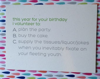 Funny Birthday Card // You're Getting Older // For Your Birthday This Year