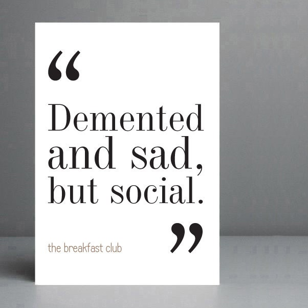 breakfast club essay quote We would like to show you a description here but the site won't allow us.