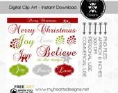 Christmas Clip Art Trendy & Modern Christmas Theme - 22920982
