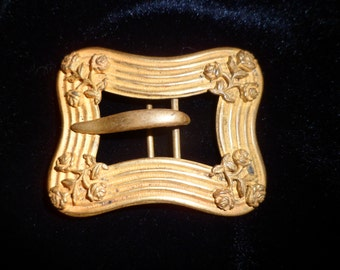 Antique Gold Toned Ladies Belt Buckle