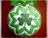St Patrick's Day Quilted Ornament