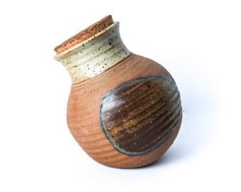 Peter Hirsch Ceramic Jar with Cork Lid Rock Brook Pottery