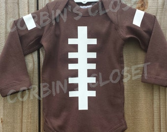 Football One Piece Creeper ....You Pick Name & Number