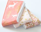 NEW - Baby Burp Cloths - Set of 3 - Brambleberry Ridge - Timber Valley, Shimmer Reflection and Flight