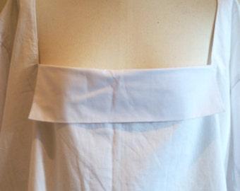 Victorian Women's White Cotton Chemise. Romantic Era Shift. Early/Mid Victorian Underwear. Flannel Muslin Option